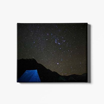 Picture of Snowman Trek Night Canvas Print