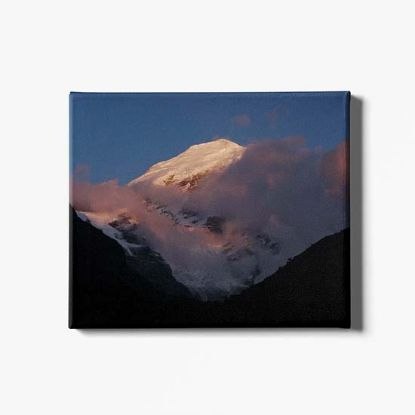 Picture of Bhutan Sunrise Himalaya Canvas Print
